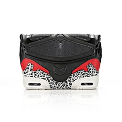 Sneaker Clutch in Black Stingray