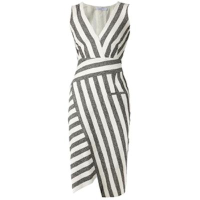 Striped Asymmetric Dress