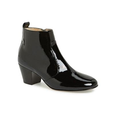 Fiona Weatherproof Patent Leather Bootie