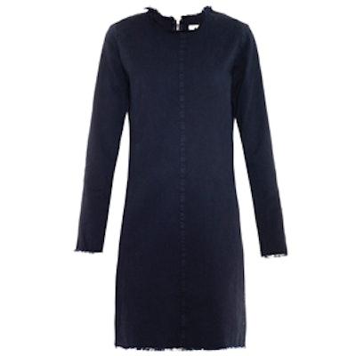 Frayed-Edge Denim Dress