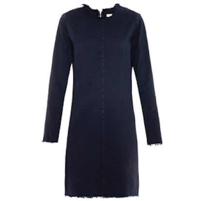 Frayed-Edge Denim Dress