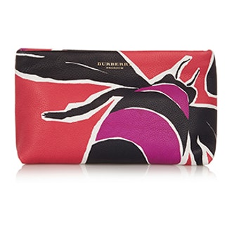 Printed Textured Leather Clutch
