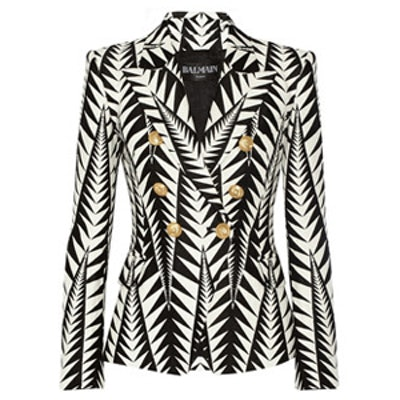 Double Breasted Cotton Jacquard Jacket