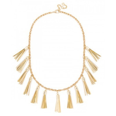 Gold Tassel Strand Necklace