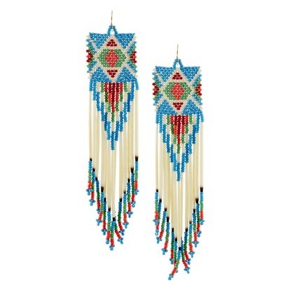 Bead and Porcupine Earrings