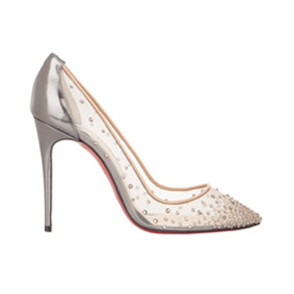 Crystal-Embellished Follies Strass Pumps