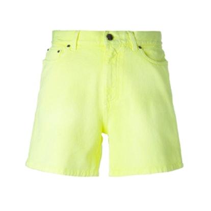 Neon Denim Shorts