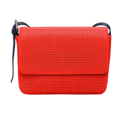 Perforated Leather Shoulder Bag