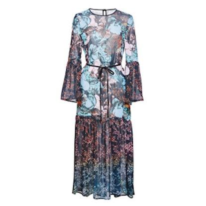 Floral Sunset Chiffon Dress