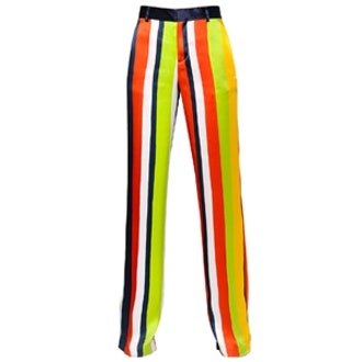 Striped Silk Pants