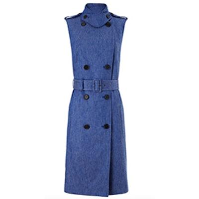 Blue Denim Trench Dress