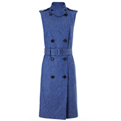 Blue Denim Trench Dress