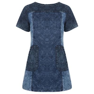 Bellfield Colour Block Denim Dress