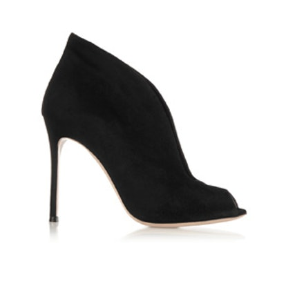 Vamp Suede Ankle Boots