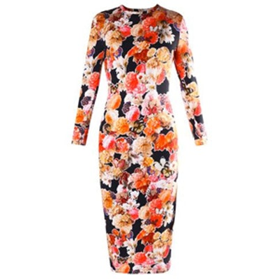 Floral Butterfly Jersey Dress