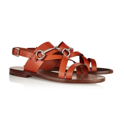 Horsebit-Detailed Leather Sandals