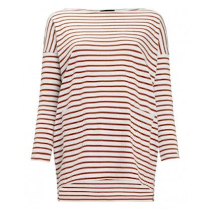 Red Breton Stripe Top