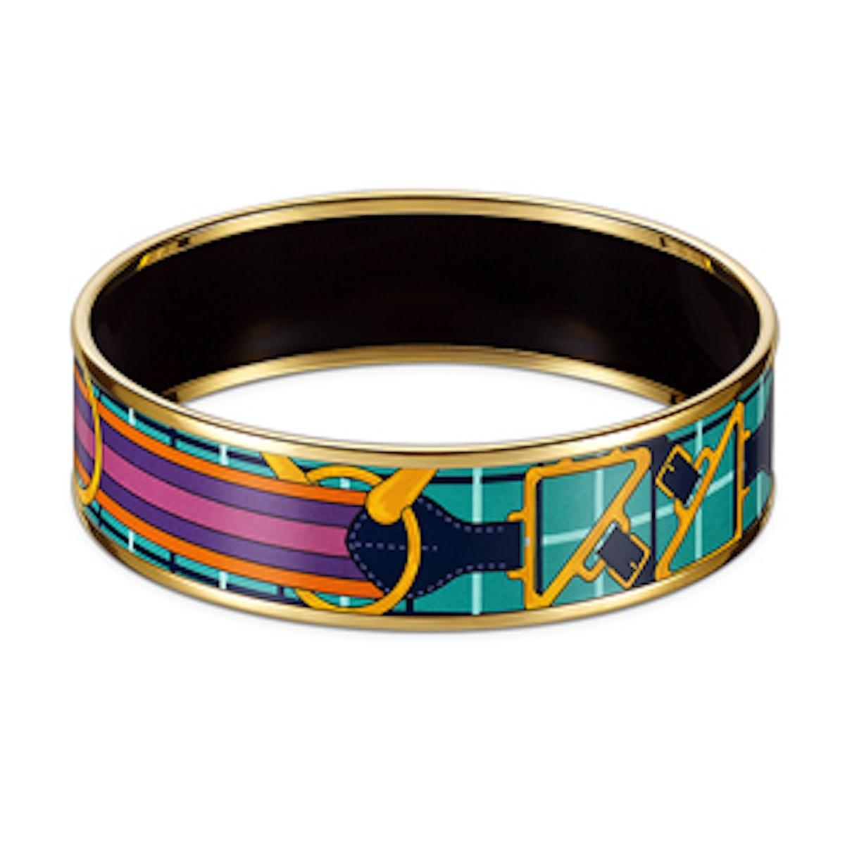 Tatersale Wide Printed Enamel Bracelet