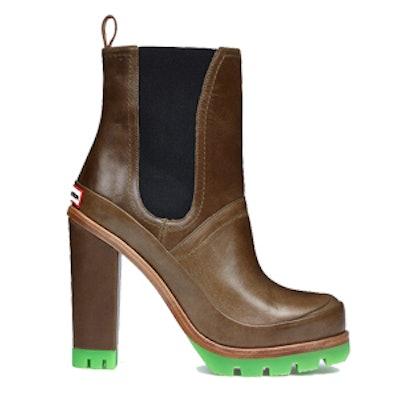 Neon High Heel Chelsea Boots