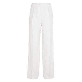 Cerys Shantung Wide-Leg Pants