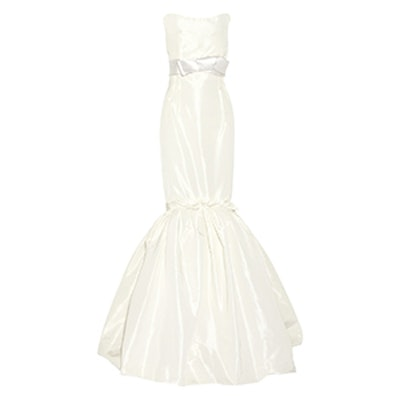 Strapless Faille Wedding Gown