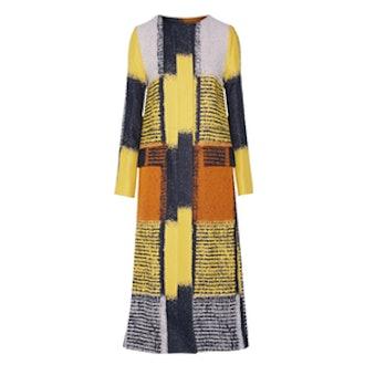 Cotton-Blended Jacquard Coat