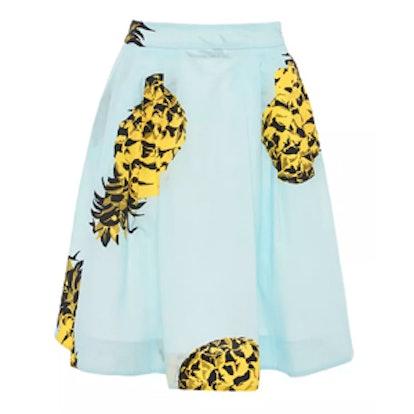 Pineapple Print Skirt