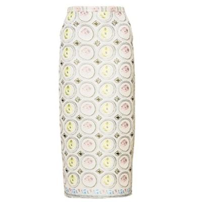 Jacquard Midi Pencil Skirt