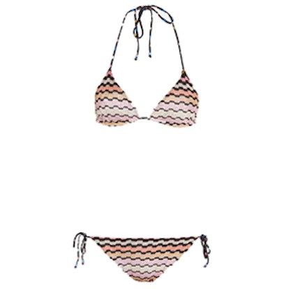 Zig Zag Knit Triangle Bikini