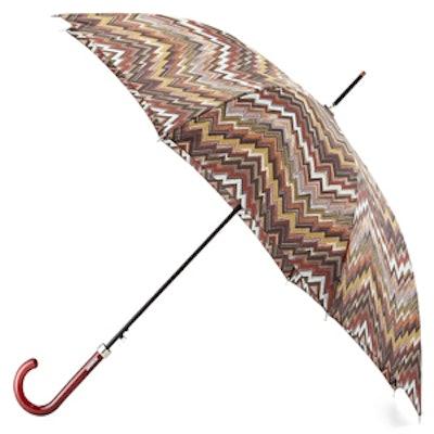 Zigzag Crook Handle Umbrella