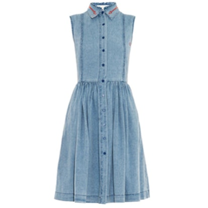 Alabama Embroidered-Denim Dress