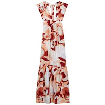 Pammy Print Silk Maxi Dress