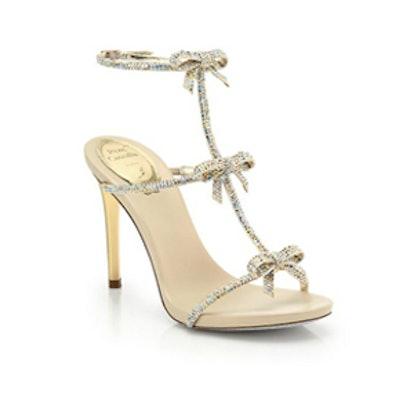 Strass Swarovski Crystal Bow Sandals