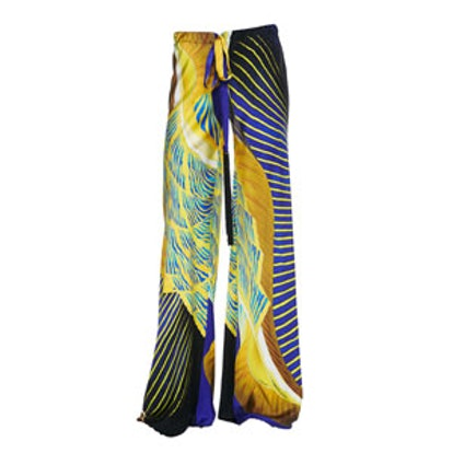 Abstract-Print Palazzo Pants