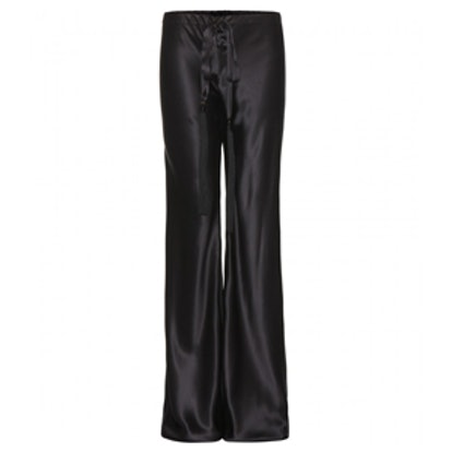 Wide-Leg Silk Trousers