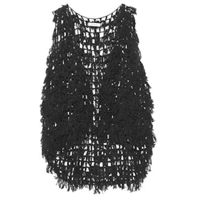 Open-Knit Cashmere Vest