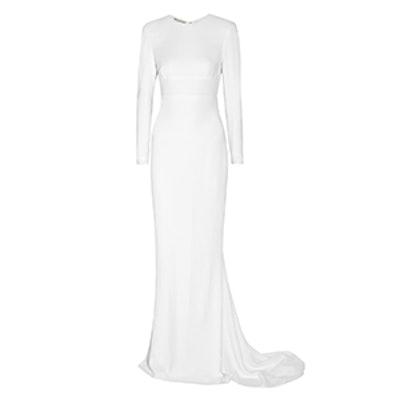 Renee Open-Back Crepe Gown