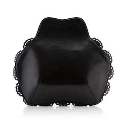 Small Black Scalloped Bag