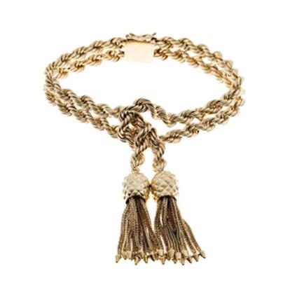 Solid Rope Knot Tassel Bracelet