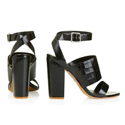 Roscha Croc-Effect High Sandals