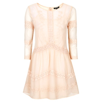 Chiffon Crochet Trim Dress