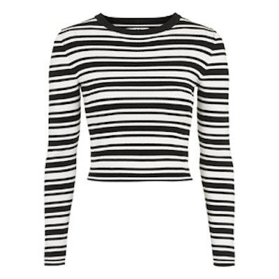 Striped Cropped Knit