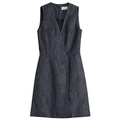 V-Neck Denim Dress
