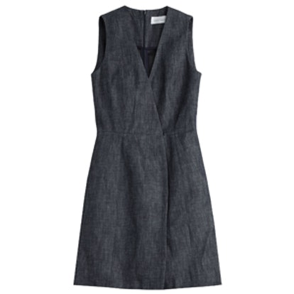 V-Neck Denim Dress