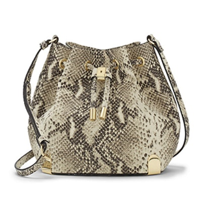 Python Embossed Leather Bag