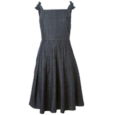 Bow Detail Denim Dress