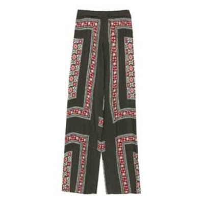 Border Print Trousers