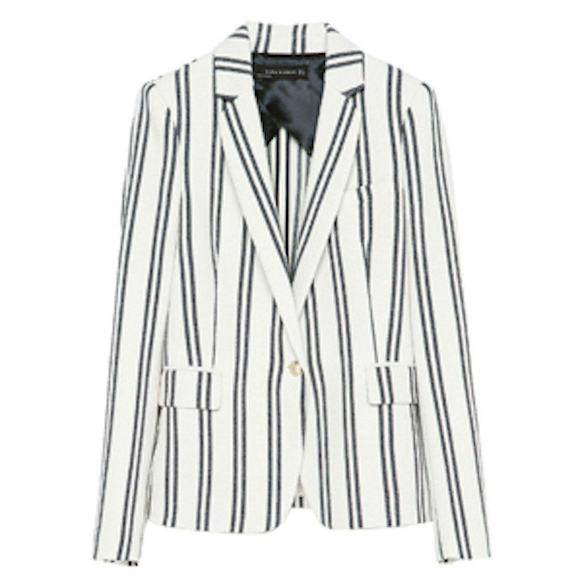 Stripe Textured Blazer