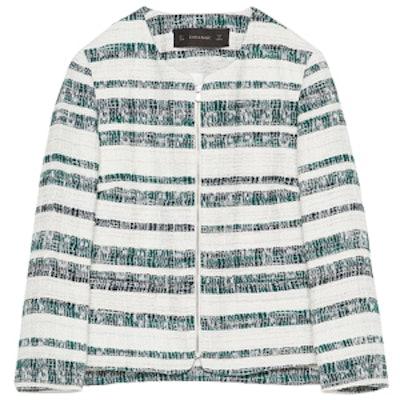 Zipped Striped Blazer