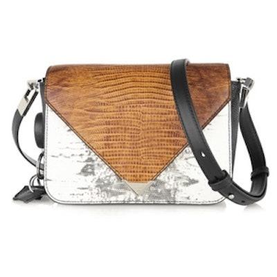Prisma Lizard Effect Leather Shoulder Bag